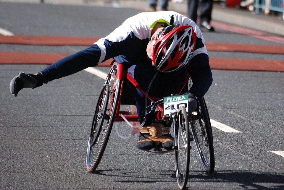 Personne handicapee en competition