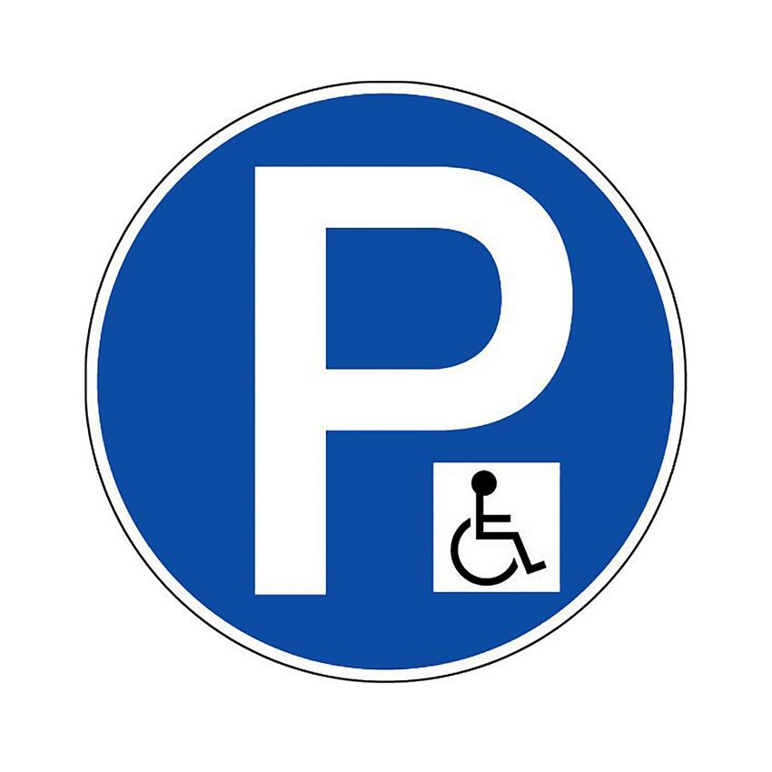 panneau de parking pour place handicap. Black Bedroom Furniture Sets. Home Design Ideas