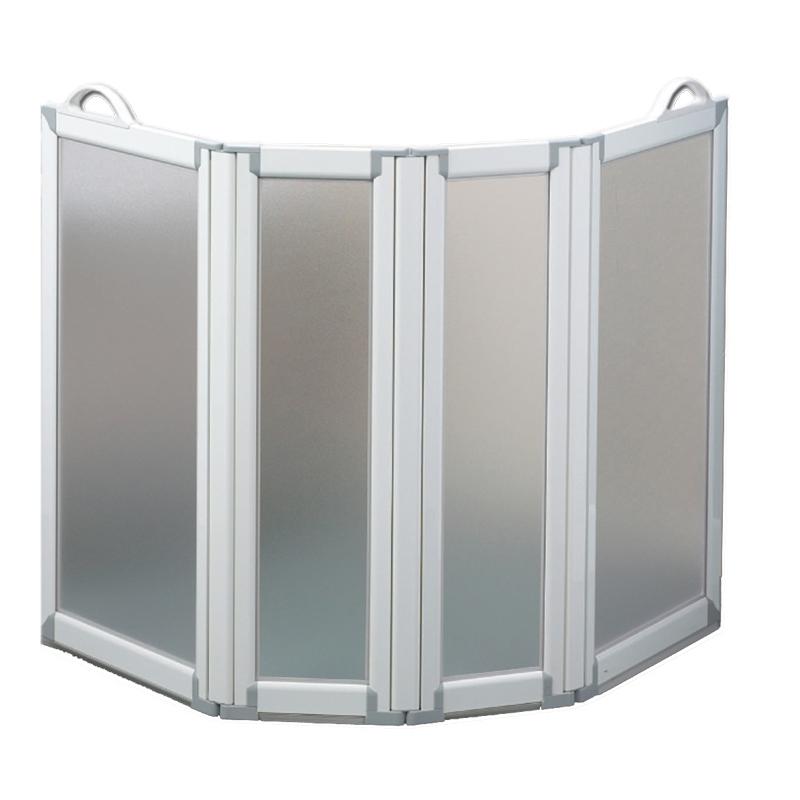 Paroi de douche portable 4 panneaux for Equipement douche
